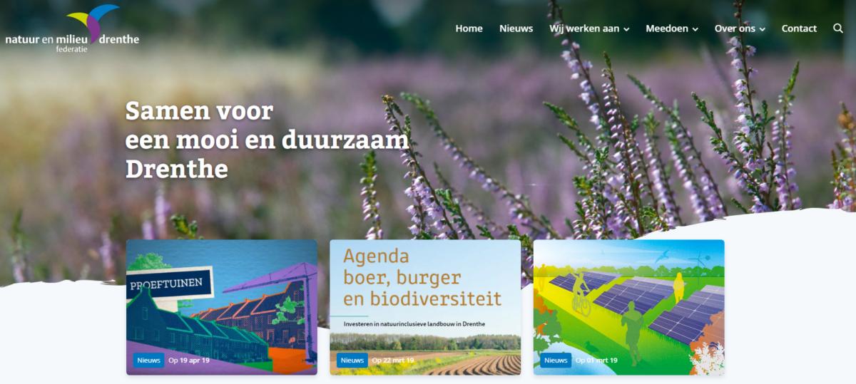 Natuur en Milieufederatie Drenthe lanceert nieuwe website