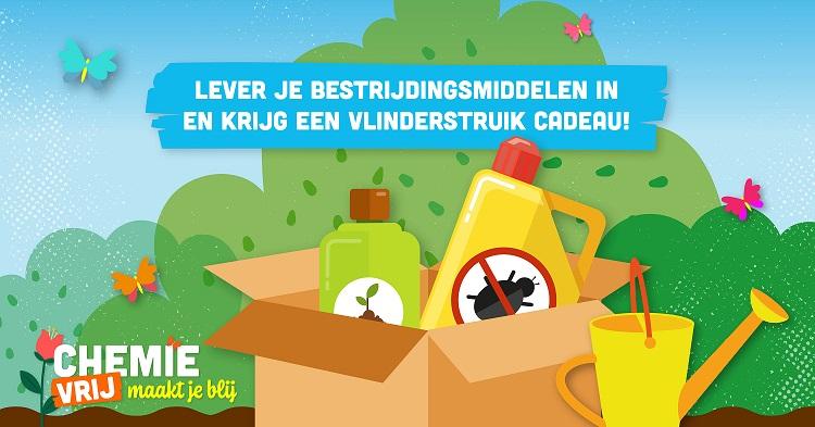 'Chemievrij maakt je blij': lever je bestrijdingsmiddelen in en krijg een vlinderstruik cadeau