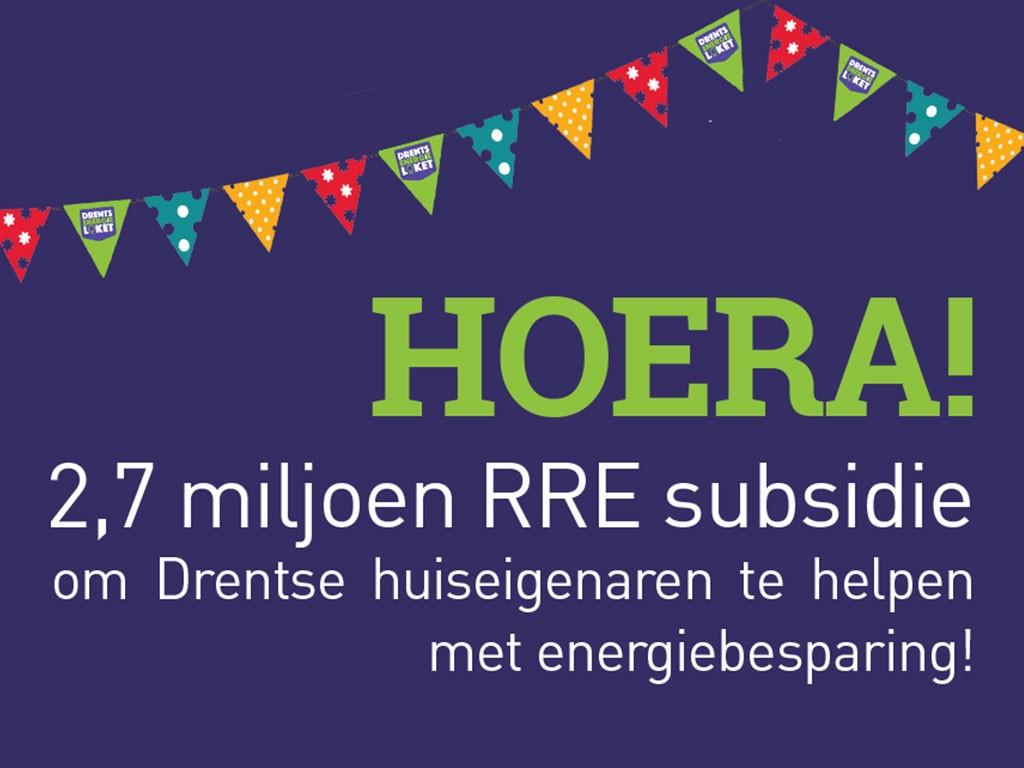 2,7 miljoen subsidie voor Drentse woningeigenaren in 2020