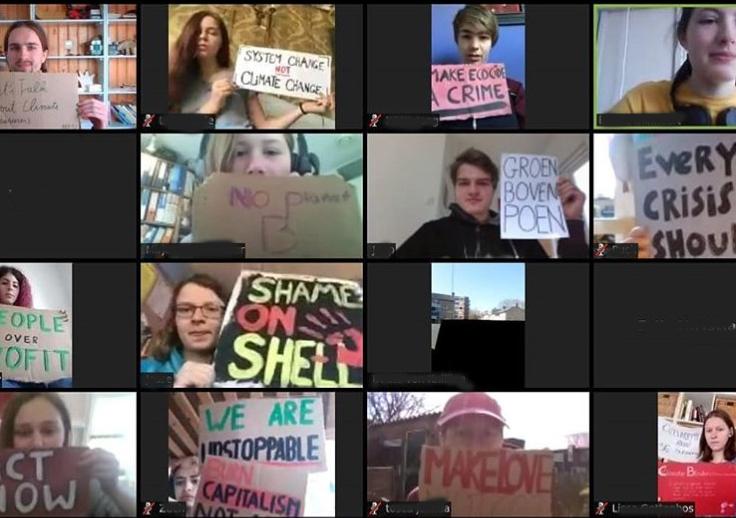 Klimaatstaking gaat online verder